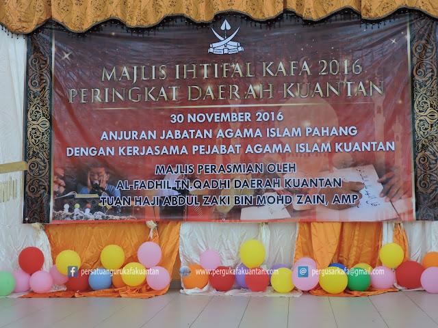 Majlis Ihtifal KAFA 2016 Peringkat Daerah Kuantan