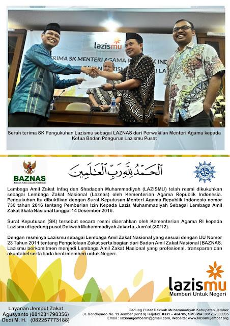 Laporan Penerimaan ZIS Bulan Nopember - Desember Cover Belakang