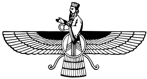 The Faravahar, one of the symbol of Zoroastrianism