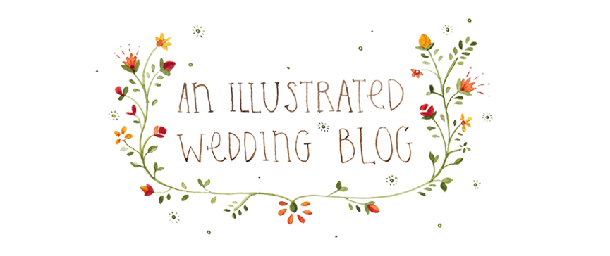 an illustrated wedding