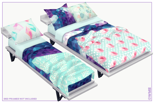 My Sims 4 Blog Elsian Bedding Set By Wms