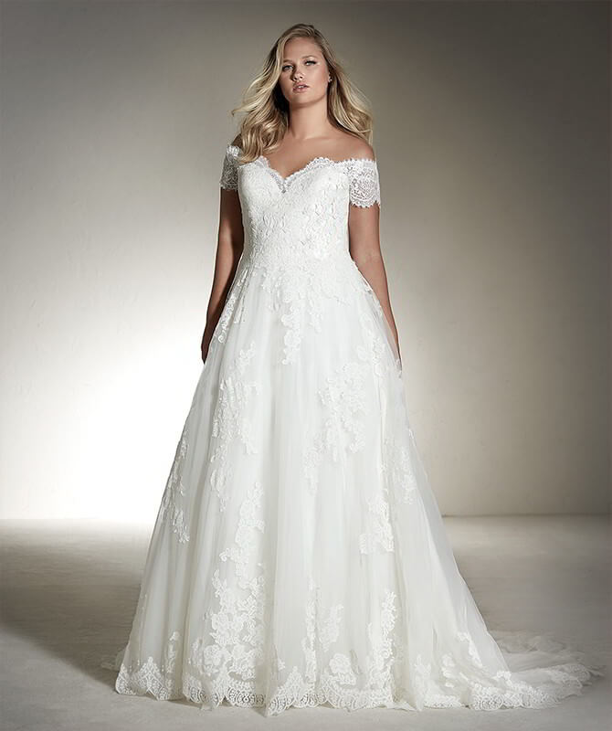 White One 2018 Plus Size Wedding Dresses - World of Bridal