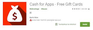 aplikasi cash for apps penghasil uang.