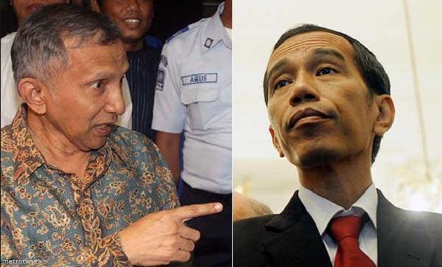 Amien Rais Menantang Jokowi Berpolitik Tanpa Uang