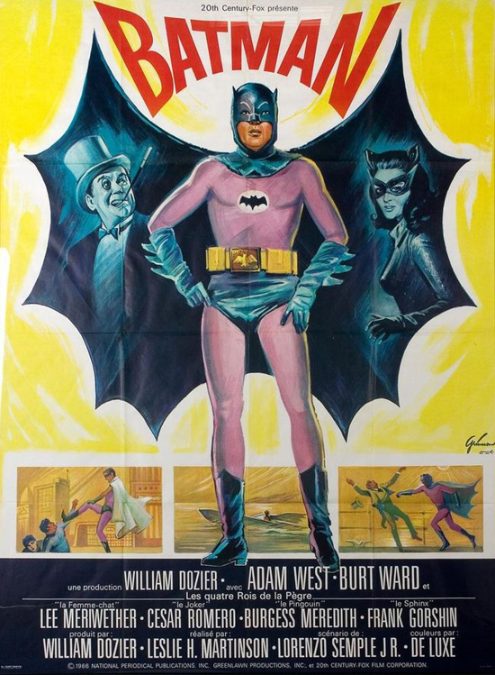 Batman movie 1966 French poster 1-2