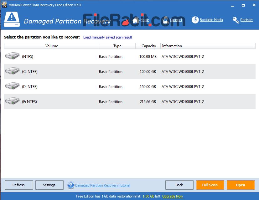 Power Data Recovery Screenshot 2
