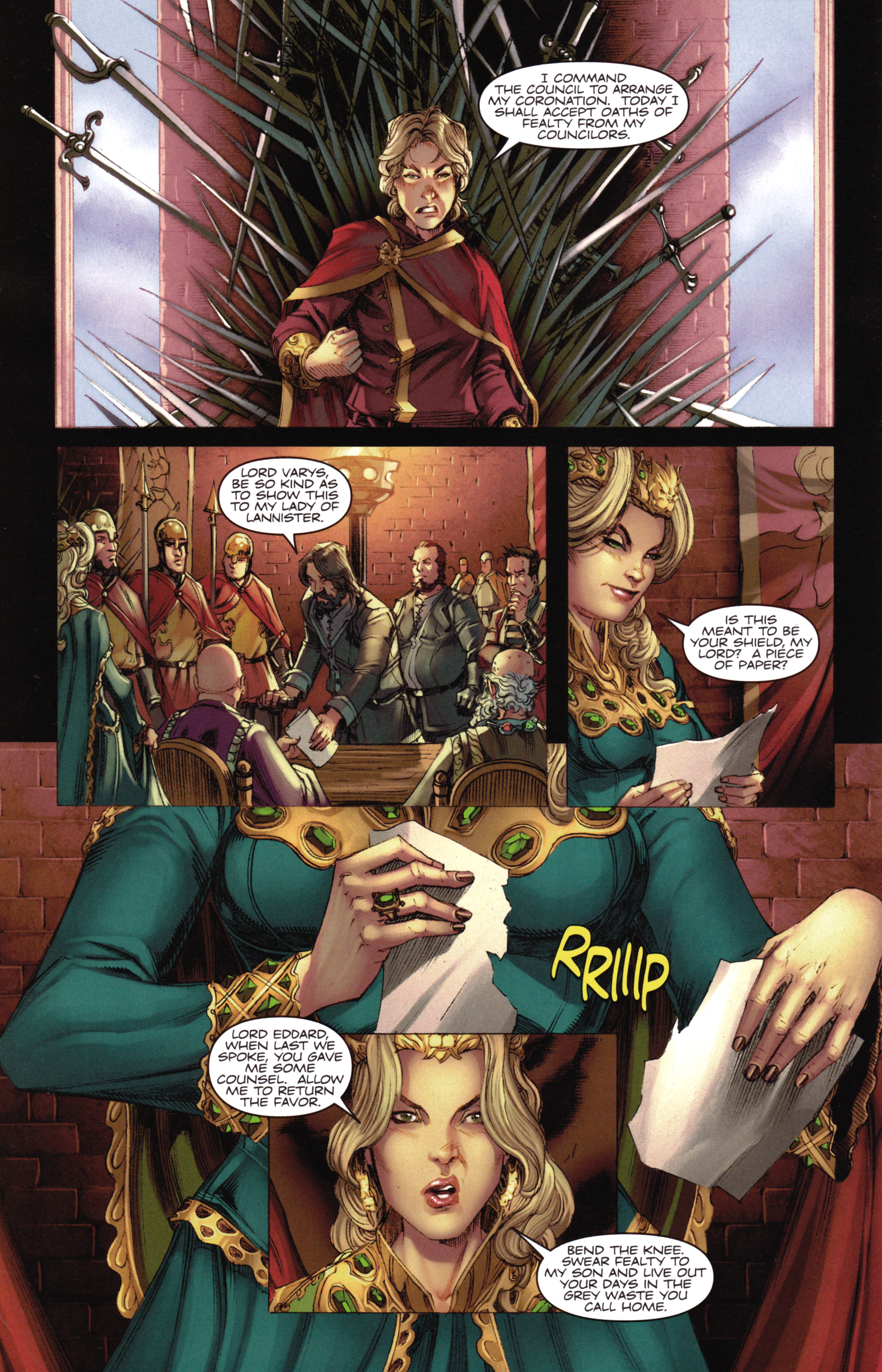 Read online A Game Of Thrones comic -  Issue #16 - 10