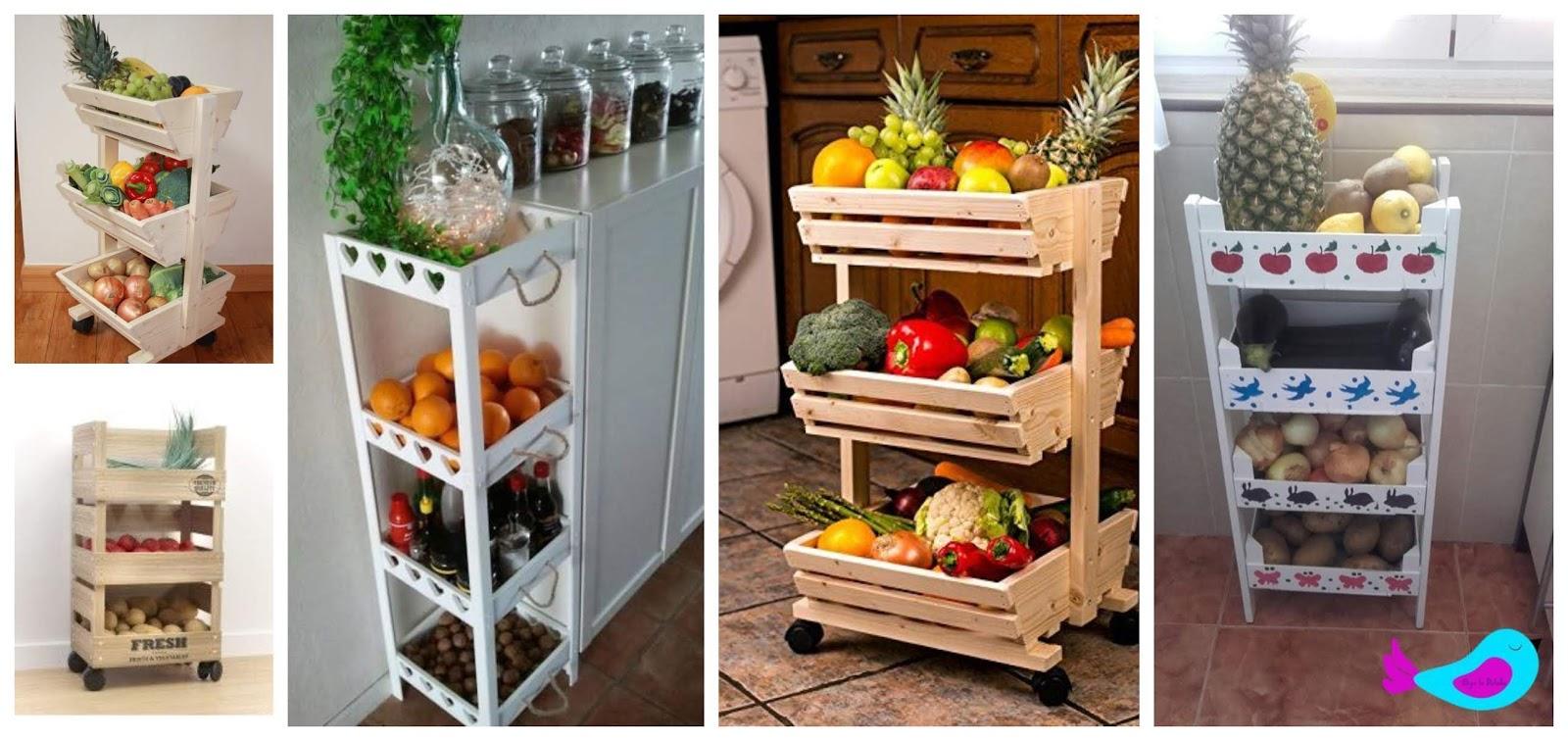 Aprende c mo hacer organizador de verduras y frutas para - Organizadores hogar ...