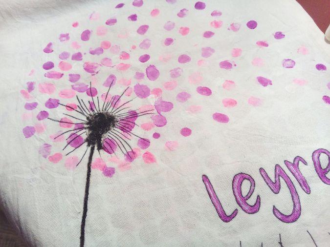 Manualidades con niños: Pintar bolsa de tela