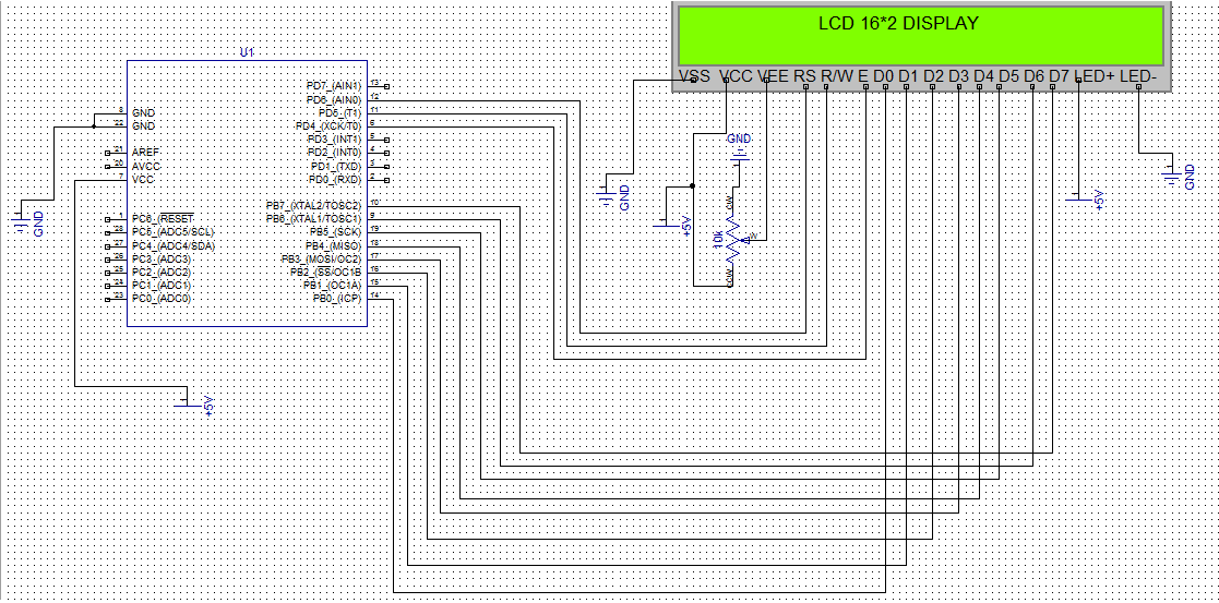 how to interface a 16 2 lcd display with atmega8. Black Bedroom Furniture Sets. Home Design Ideas