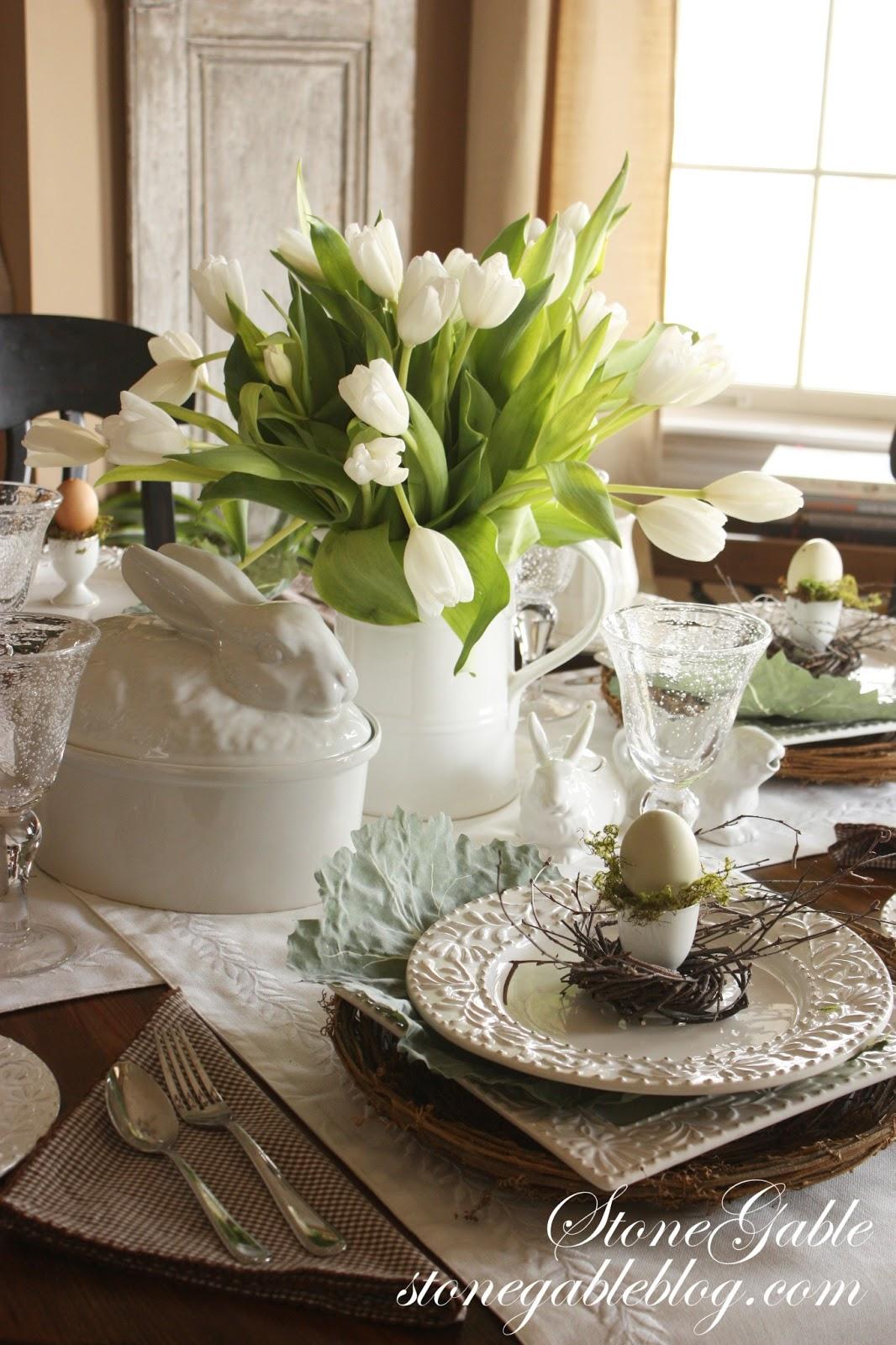 An Easy Easter Table Using A Formula Stonegable