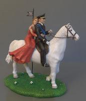 statuine personalizzate torta nuziale uniforme sposa abito rosso orme magiche