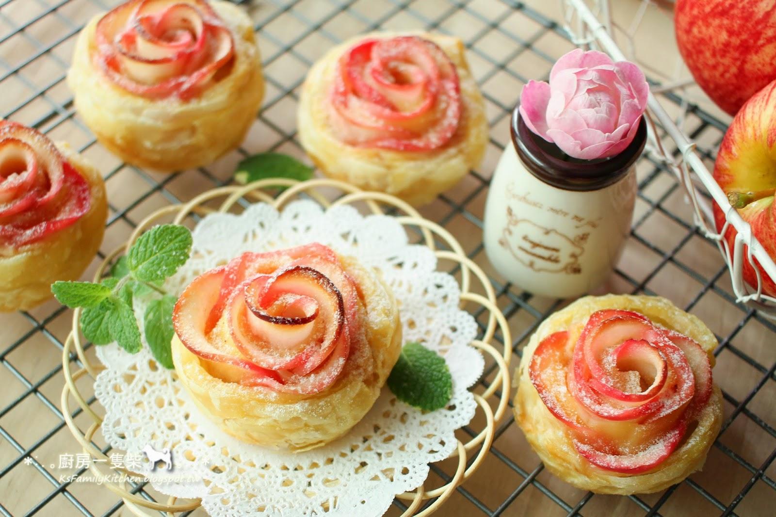 【烘焙玩甜點】酥皮蘋果玫瑰花捲