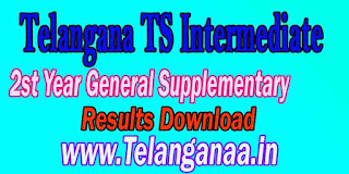 Telangana TS Inter 2nd Year Supplementary Examination Result