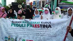 Sejumlah Organisasi Mahasiswa Kudus Gelar Aksi Peduli Palestina