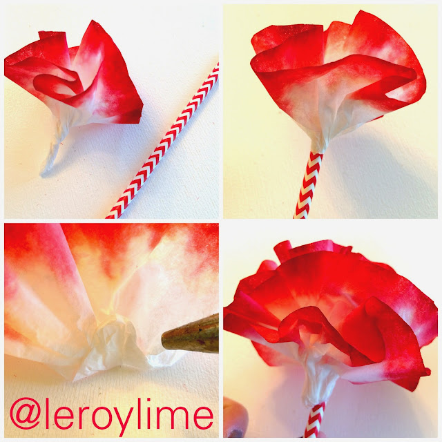 Coffee Filter Flowers Valentine Decor