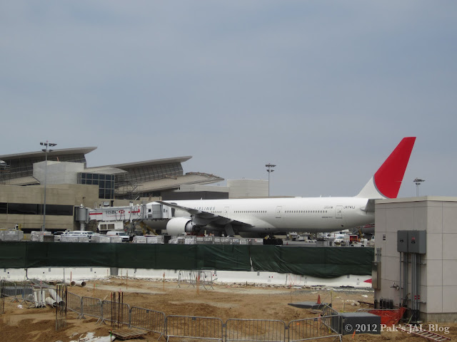 Japan Airlines JA741J parked at LAX TBIT