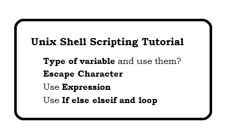 Unix Shell Scripting Tutorial - Step 1