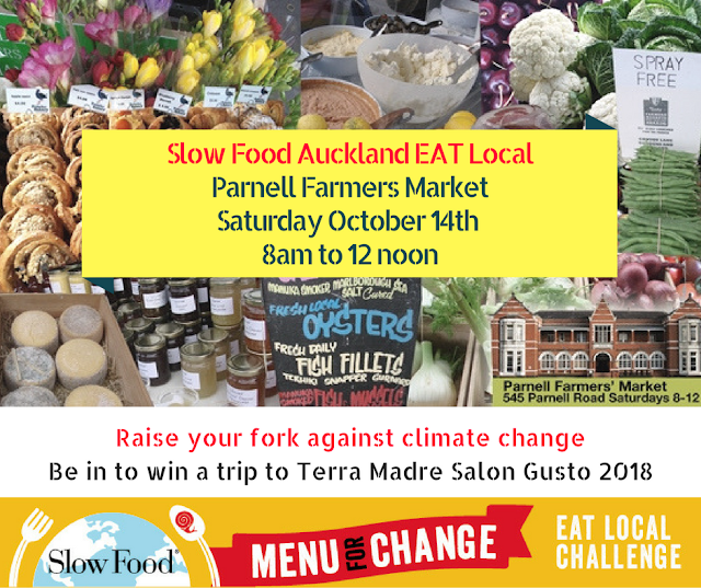 EAT LOCAL Event – Parnell Farmers Market October 14th 2017