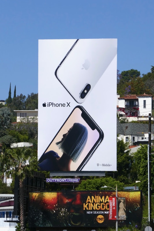 Summer 2018 Apple iPhone X billboard