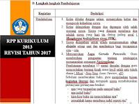 Contoh RPP Kurikulum 2013 Format Terbaru Tahun Ajar 2017/2018