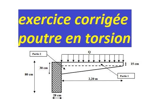 Exercice Corrigée Poutre En Torsion Cours Génie Civil