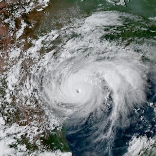 Le cyclone Harvey au-dessus des côtes du Texas en août 2017