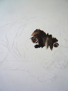 work-in-progress photo of oil painting