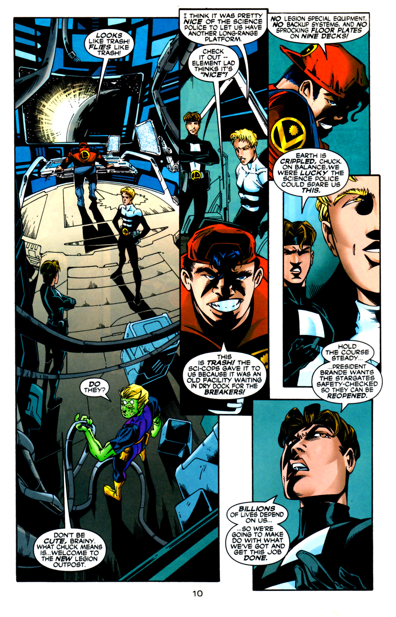 Legion of Super-Heroes (1989) 124 Page 10