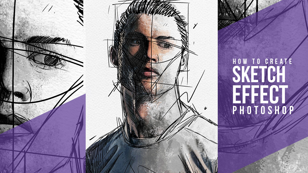 Line Art Effect Photoshop Tutorial : Download photoshop sketch effect project psd file