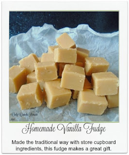Made in the traditional way with store cupboard ingredients, this vanilla fudge makes a thoughtful homemade gift.