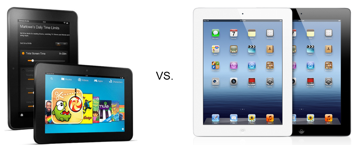 Apple Ipad Vs Kindle: Kindle Fire HD 8.9'' Vs. The New IPad