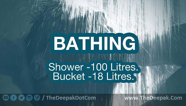 Water Saving Suggestion - While Bathing
