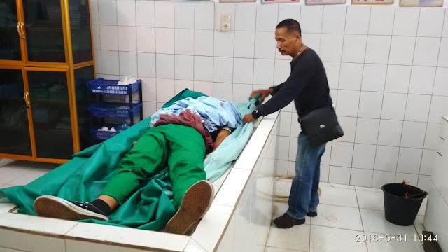 Mayat korban saat berada di kamar mayat rumah sakit
