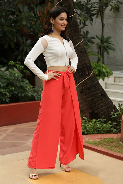 Tamannaah Bhatia in Palazzos and Crop Top