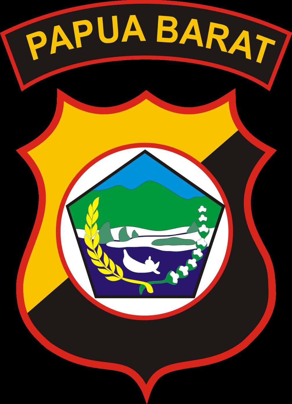 LogoLambang Resmi Polda Papua Barat Format Vector