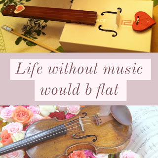 "Life without music would ""b"" flat"