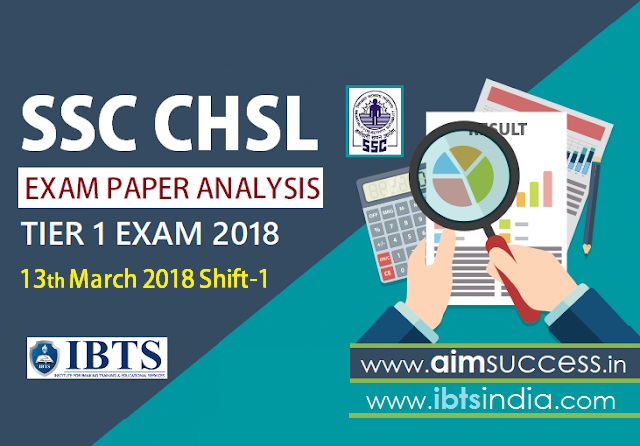 SSC CHSL Tier-I Exam Analysis 13th March 2018: Shift - 1