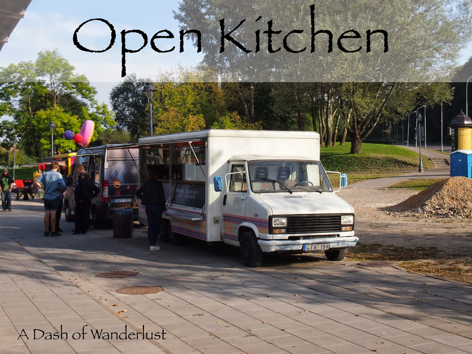 Open Kitchen, a collection of pop-up restaurant stalls outside in Vilnius, LT.