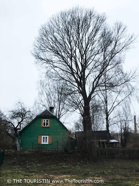 Kipsala - Riga. Latvia. Green wooden house