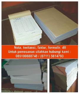 Percetakan palembang untuk cetak nota, invoice, faktur, formulir, dll
