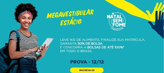 Estácio realiza Mega Vestibular em parceria com a Campanha Natal sem Fome