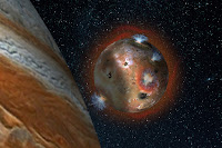 Fluctuating Atmosphere of Jupiter's volcanic moon Io