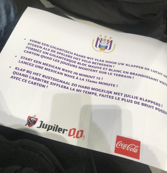 Handleiding van Anderlecht over sfeer maken