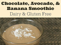 Dairy Free Chocolate, Avocado, & Banana Smoothie Recipe