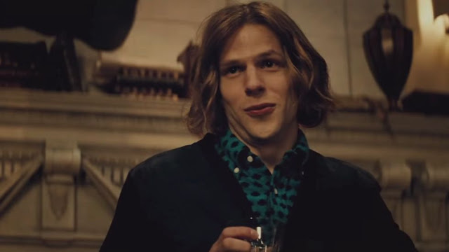 Jesse Eisenberg, enjoying himself, which can occasionally happen in movies