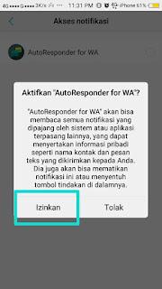 izinkan autoresponder for WA