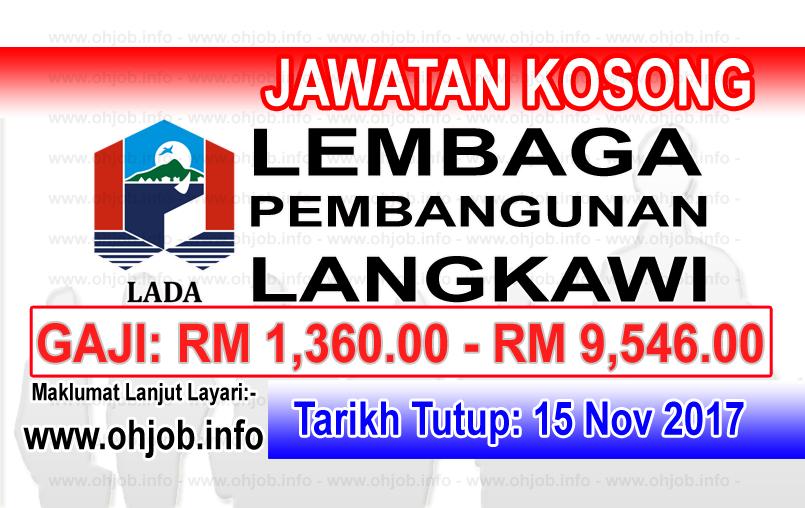Jawatan Kerja Kosong LADA - Lembaga Pembangunan Langkawi logo www.ohjob.info november 2017