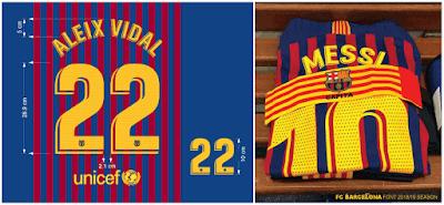 0cf84780b Football teams shirt and kits fan  Font FC Barcelona 2018 19 Kits
