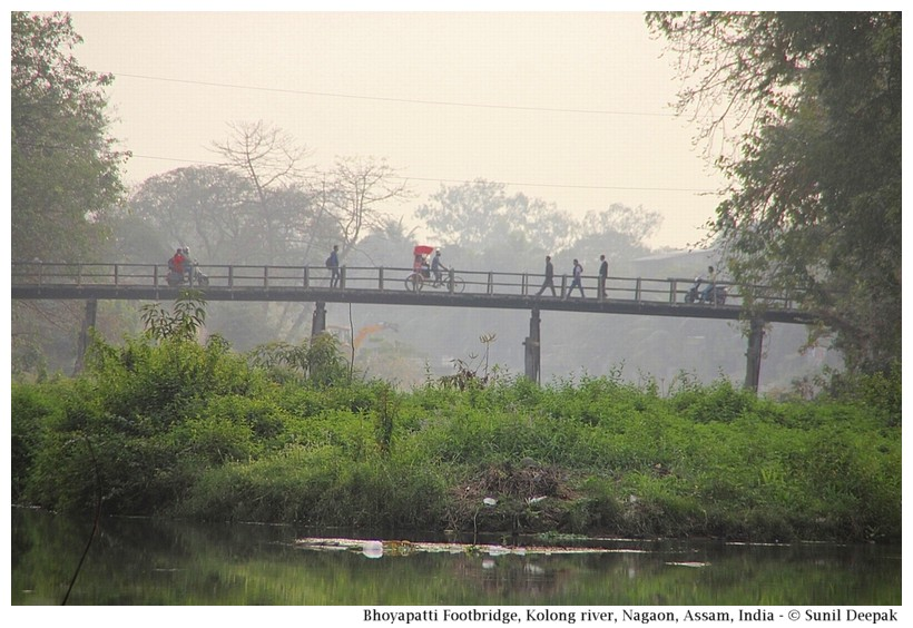 Bhuyapatti bridge, Nagaon, Assam, India - Images by Sunil Deepak